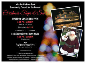 come join the madison park community council for our annual christmas ships holiday celebration
